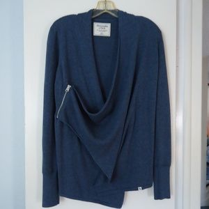 ABERCROMBIE & FITCH Zip Wrap Cardigan XS NEW!